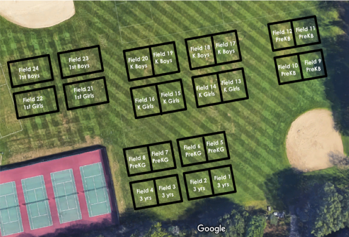 spring 2019 field layout ds high school Sunday